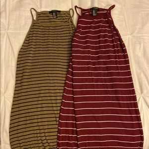 2 Forever 21 Stripped Maxi Dresses